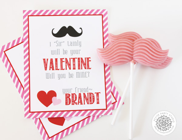 Mustache Favors Valentines Day Petite Party Studio