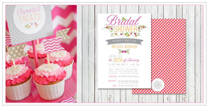 Chevron & Ombre Bridal Shower
