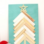 Wood Shim Holiday Christmas Tree Art by petite party studio