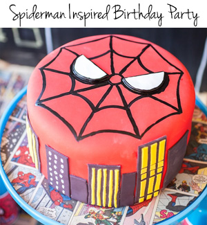Spiderman Birthday Party Pic