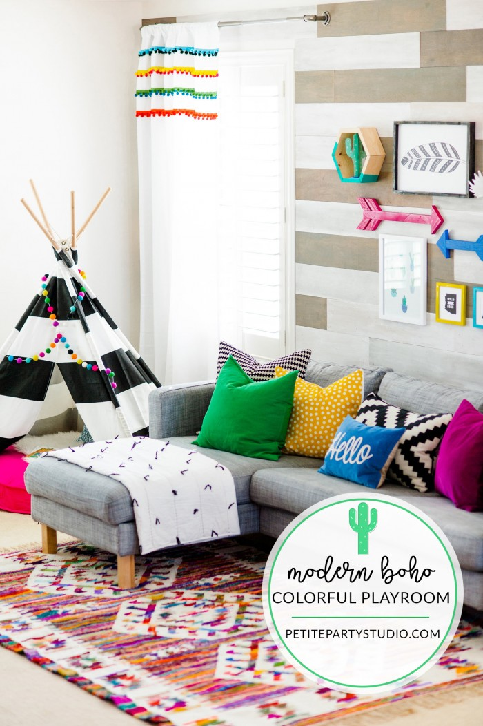 Colorful playroom design with the land of nod Land of nod playroom ideas
