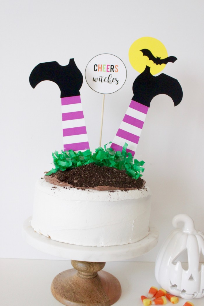 DIY Halloween Witch Cake